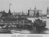 Пристань на Даугаве в Агенскалнсе в начале ХХ века<br>Источник: commons.wikimedia.org