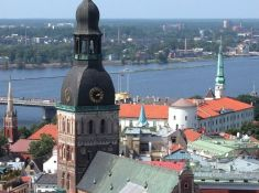 The panorama of the Old Riga